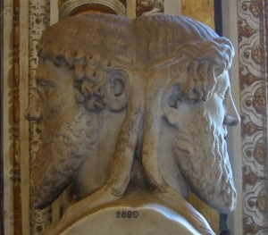 Bust of the god Janus, Vatican museum, Città del Vaticano